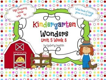 Wonders Reading for Kindergarten: Unit 5 Week 3 Extension