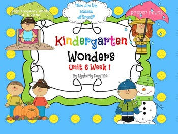 Wonders Reading for Kindergarten: Unit 6 Week 1 Extension