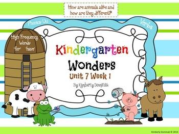 Wonders Reading for Kindergarten: Unit 7 Week 1 Extension