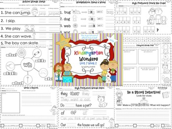 Wonders Reading for Kindergarten: Unit 7 Week 2 Extension