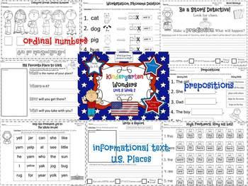Wonders Reading for Kindergarten: Unit 8 Week 2 Extension