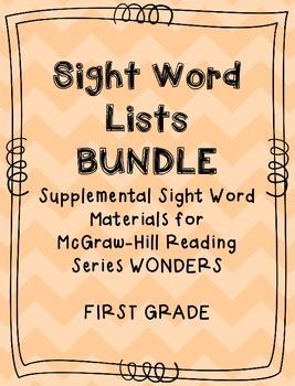 Wonders Sight Word List BUNDLE (First Grade All Units)