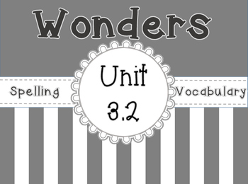 Wonders Spelling , Vocabulary, & Roll and Read Activities