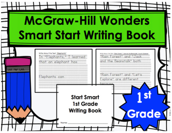 Wonders Start Smart First Grade Writing Book