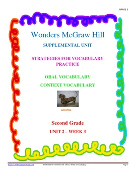 Wonders Supplemental Unit for Oral and Context Vocabulary