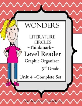 Wonders Thinkmark Literature Circles Complete Unit 4 Week 1-5