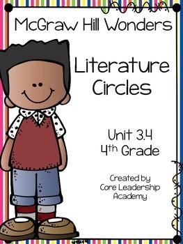 Wonders Thinkmark Literature Circles Unit 3.4 ~ 4th Grade