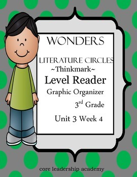Wonders Thinkmark Literature Circles~Unit 3 Week 4