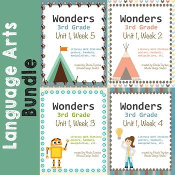 Reading Literacy Centers Unit 1 Bundle