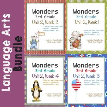 Reading Literacy Centers Unit 2 Bundle