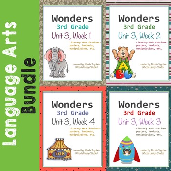 Reading Literacy Centers Unit 3 Bundle