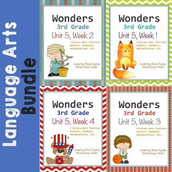 Reading Literacy Centers Unit 5 Bundle