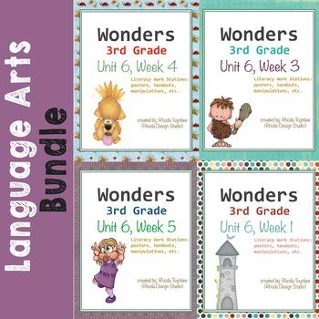 Reading Literacy Centers Unit 6 Bundle