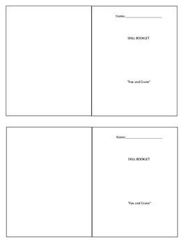 Wonders Unit 2 Week 1 Fox and the Crane Skill Booklet