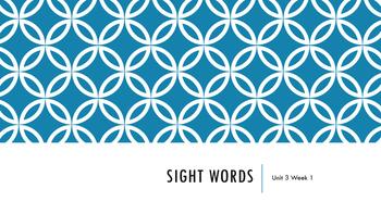 Wonders Unit 3 Sight Words Bundle