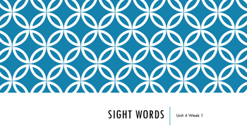 Wonders Unit 4 Sight Words Bundle