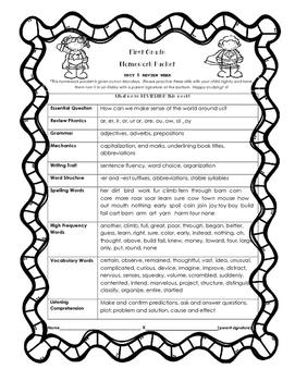 Wonders Unit 5 Review Homework Packet
