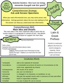 Wonders Unit 6 Week 3 Study guide