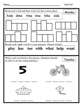 Wonders Unit 9 Week 2 Reading/Math Homework (Hen Hears Gossip)
