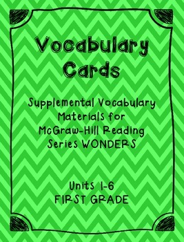 Wonders Vocabulary Focus Wall Cards (First Grade All Units)