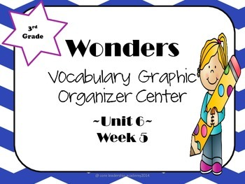Wonders Vocabulary Graphic Organizer Center~Unit 6 Week 5