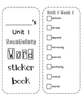 Wonders Vocabulary Sticker Books