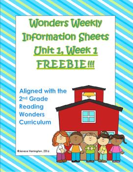 Wonders Weekly Information Sheets - FREEBIE - Unit 1 Week 1