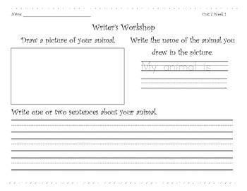 Wonders Writer's Workshop Unit 7-10 Student Worksheets