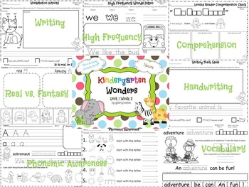 Wonders Reading for Kindergarten: Unit 1 Week 2 Extension