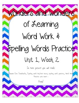 Wonders of Learning - Unit 1, Week 2 - Spelling and Word W