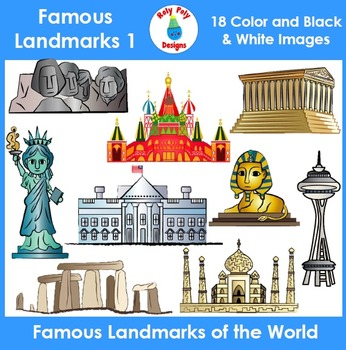 Wonders of the World and Famous Landmarks Clip Art