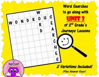 Wondrous Word Searches- Journeys Unit 3- Second Grade