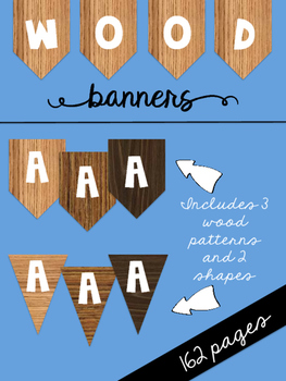 Wood Banners {3 wood patterns, 2 shapes}