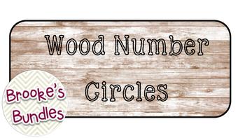 Wood Number Circles