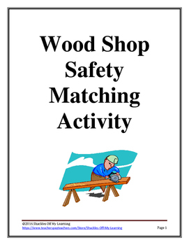 Wood Shop Safety Matching Activity for Engineering and Technology