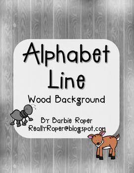 Wood Grain Alphabet Line
