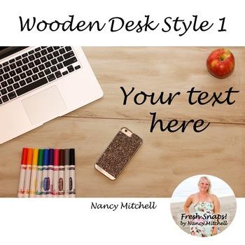 Wooden Desk Style 1 Freebie