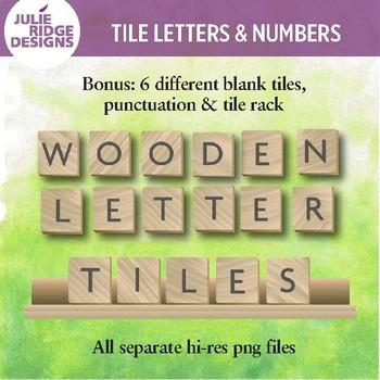 Wooden Letter Tile Clip Art