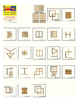 Wooden Stick Match Manipulative Printable Cards