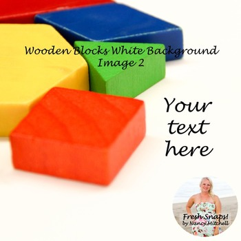 Wooden shapes on white background Image 2