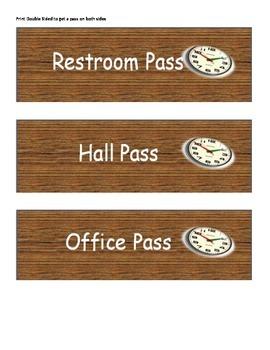 Woodgrain Design Hall Passes
