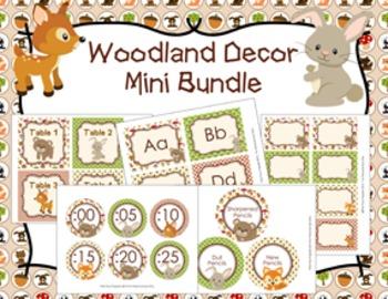 Woodland Animal Decor Mini Bundle