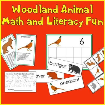 Woodland Animals Math and Literacy Fun