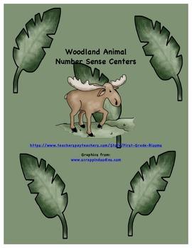 Woodland Animal Number Sense Centers