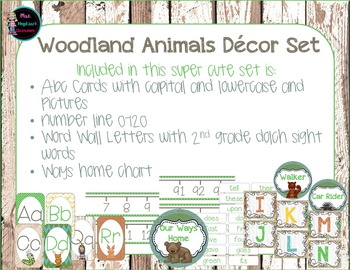 Woodland Animals Classroom Decoration Set