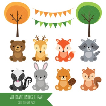 Woodland Animals Clip Art
