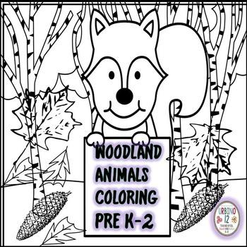 Woodland Animals Coloring