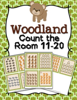 Woodland Animals Count the Room 11-20