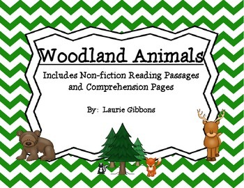 Woodland Animals ~ Including non-fiction reading passages