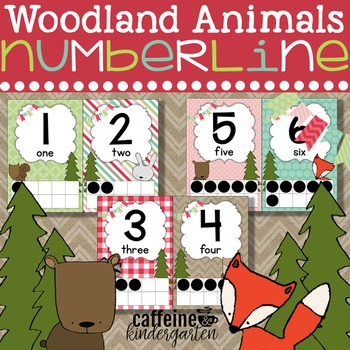 Woodland Animals Numberline - Woodland Forest Theme